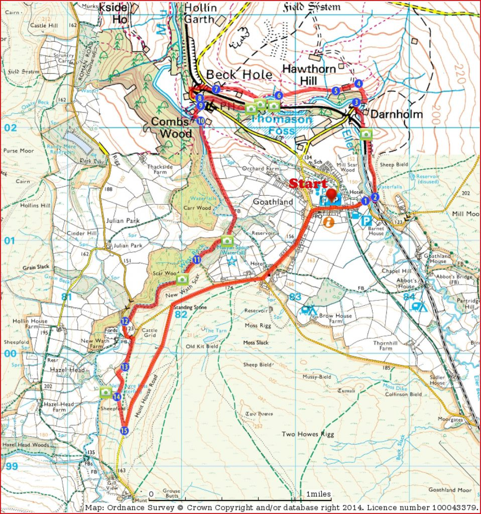 Gaothland walk route map